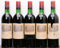Red Bordeaux, Chateau Lafite Rothschild 1967 . Pauillac. 1bn, 2ts, 1hs,5bsl, 1lscl, 1htal. Bottle (5). ... (Total: 5 Btls. )