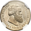 Brazil, Brazil: Pedro II Copper-Nickel Pattern 10 Reis 1869,...