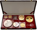 Albania, Albania: Republic silver & gold Proof Set 1968,... (Total: 8coins)