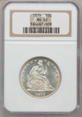 Seated Half Dollars, 1879 50C MS63 NGC. WB-102, Type 2, R-3. NGC Census: (38/144). PCGSPopulation (75/174). Mintage: 4,800. Numismedia Wsl. Pri...
