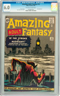 Silver Age (1956-1969):Science Fiction, Amazing Adult Fantasy #13 (Marvel, 1962) CGC FN 6.0 Off-white to white pages....