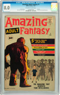 Silver Age (1956-1969):Science Fiction, Amazing Adult Fantasy #7 (Marvel, 1961) CGC VF 8.0 Off-white towhite pages....