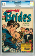 Golden Age (1938-1955):Romance, Teen-Age Brides #2 File Copy (Harvey, 1953) CGC VF+ 8.5 Cream tooff-white pages....