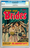 Golden Age (1938-1955):Romance, Teen-Age Brides #6 File Copy (Harvey, 1954) CGC VF+ 8.5 Cream tooff-white pages....