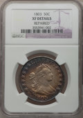 Early Half Dollars, 1803 50C Large 3 -- Repaired -- NGC Details. XF. O-103, R.3....