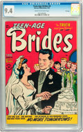 Golden Age (1938-1955):Romance, Teen-Age Brides #4 File Copy (Harvey, 1954) CGC NM 9.4 Cream tooff-white pages....