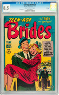 Golden Age (1938-1955):Romance, Teen-Age Brides #3 File Copy (Harvey, 1953) CGC VF+ 8.5 Cream to off-white pages....
