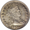 Early Dimes, 1804 10C 13 Stars on Reverse--Scratched--ANACS. AU55 Details....