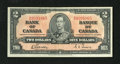 Canadian Currency: , BC-22b $2 1937. Original surfaces inhabit this $2. Very Fine+....
