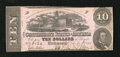 Confederate Notes:1862 Issues, T52 $10 1862. The cut cancels are well-hidden on the face of this$10 due to the quality repairs. Crisp Uncirculated, CC...