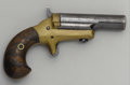 Western Expansion:Cowboy, COLT THIRD MODEL DERRINGER Circa 1880's - Early standard model withhigh hammer, serial number 12734. All numbers, including...