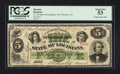 Obsoletes By State:Louisiana, New Orleans, LA- State of Louisiana $5 April 20, 1866 Cr. 25. ...