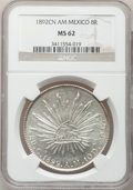 Mexico, Mexico: Republic 8 Reales 1892Cn-AM, ...