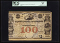Large Size:Demand Notes, United States of America War Bounty Scrip $100 March 16, 1849Hessler X117B. ...