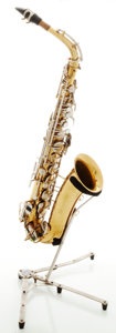 Musical Instruments:Horns & Wind Instruments, Circa 1962 Buescher Aristocrat Brass Alto Saxophone, Serial #373889....