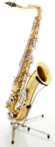 Musical Instruments:Horns & Wind Instruments, Vintage Buffet Evette Schaeffer Brass Tenor Saxophone, Serial #32977....