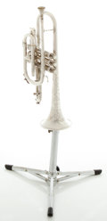 Musical Instruments:Horns & Wind Instruments, Vintage Gretsch President Silver Cornet, Serial #137353....