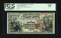 National Bank Notes:Pennsylvania, Meadville, PA - $50 1882 Brown Back Fr. 515 The New First NB Ch. #4938. ...