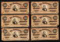 Confederate Notes:1864 Issues, T66 $50 1864 PF-8 Cr. 499. 34 Examples.. ... (Total: 34 notes)