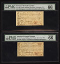 Colonial Notes:North Carolina, North Carolina December, 1771 £1 PMG Gem Uncirculated 66 EPQ. TwoExamples.. ... (Total: 2 notes)