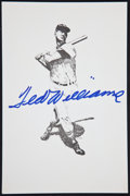 Baseball Collectibles:Others, Ted Williams Signed Print....