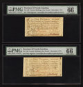 Colonial Notes:North Carolina, North Carolina December, 1771 £1 PMG Gem Uncirculated 66 EPQ. Two Examples.. ... (Total: 2 notes)