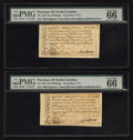 Colonial Notes:North Carolina, North Carolina December, 1771 10s PMG Gem Uncirculated 66 EPQ. TwoExamples.. ... (Total: 2 notes)