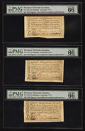 Colonial Notes:North Carolina, North Carolina December, 1771 10s PMG Gem Uncirculated 66 EPQ. Three Examples.. ... (Total: 3 notes)