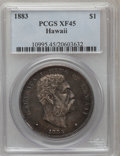 Coins of Hawaii: , 1883 $1 Hawaii Dollar XF45 PCGS. PCGS Population (137/248). NGC Census: (48/177). Mintage: 500,000. (#10995)...