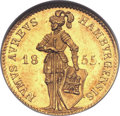 German States:Hamburg, German States: Hamburg. Free City gold Ducat 1855,...
