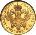 German States:Hamburg, German States: Hamburg. Free City gold Ducat 1754-IHL,...