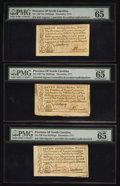 Colonial Notes:North Carolina, North Carolina December, 1771 10s PMG Gem Uncirculated 65 EPQ.Three Examples.. ... (Total: 3 notes)