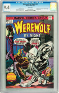 Bronze Age (1970-1979):Horror, Werewolf by Night #32 (Marvel, 1975) CGC NM 9.4 White pages....