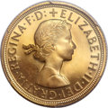 Great Britain, Great Britain: Elizabeth II gold Proof Sovereign 1958,...