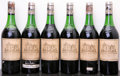 Red Bordeaux, Chateau Haut Brion 1971 . Pessac-Leognan. 3(5.5cm),2(4.5cm), 6lbsl, 2cc, 1sos. Bottle (6). ... (Total: 6 Btls. )
