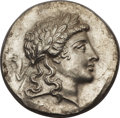 Ancients:Greek, Ancients: Myrina. Ca. 155-145 BC. AR tetradrachm (16.71 gm). ...