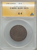 Colonials: , 1785 COPPER Nova Constellatio Copper, Blunt Rays Good 4 ANACS. NGCCensus: (0/13). PCGS Population (0/35). (#810)...