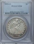 Seated Dollars: , 1850-O $1 VF30 PCGS. PCGS Population (9/117). NGC Census: (4/99).Mintage: 40,000. Numismedia Wsl. Price for problem free N...