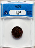 Proof Indian Cents: , 1889 1C PR64 Red and Brown ANACS. NGC Census: (74/80). PCGSPopulation (93/47). Mintage: 3,336. Numismedia Wsl. Price for p...