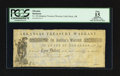 Obsoletes By State:Arkansas, Little Rock, AR- Arkansas Treasury Warrant $3 Feb. 3, 1862 Cr. UNL. ...