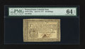 Colonial Notes:Pennsylvania, Pennsylvania April 10, 1777 20s PMG Choice Uncirculated 64 EPQ.....