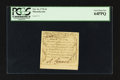 Colonial Notes:Massachusetts, Massachusetts October 16, 1778 3d PCGS Very Choice New 64PPQ.. ...