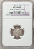 Barber Dimes: , 1896-O 10C -- Improperly Cleaned -- NGC Details. AU. NGC Census:(2/29). PCGS Population (4/42). Mintage: 610,000. Numismed...