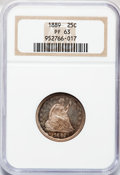 Proof Seated Quarters: , 1889 25C PR63 NGC. NGC Census: (20/98). PCGS Population (37/75).Mintage: 711. Numismedia Wsl. Price for problem free NGC/P...