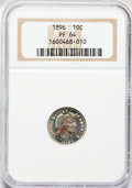 Proof Barber Dimes: , 1896 10C PR64 NGC. NGC Census: (59/98). PCGS Population (60/78).Mintage: 762. Numismedia Wsl. Price for problem free NGC/P...