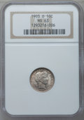 Barber Dimes: , 1903-O 10C MS63 NGC. NGC Census: (11/35). PCGS Population (15/42).Mintage: 8,180,000. Numismedia Wsl. Price for problem fr...