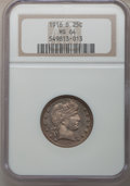 Barber Quarters: , 1916-D 25C MS64 NGC. NGC Census: (405/223). PCGS Population (499/417). Mintage: 6,540,800. Numismedia Wsl. Price for proble...