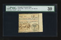 Colonial Notes:Georgia, Georgia June 8, 1777 $6 PMG Very Fine 30.. ...