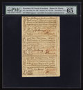 Colonial Notes:North Carolina, North Carolina December, 1771 2s6d House; £1; 10s Uncut Sheet of Three PMG Gem Uncirculated 65 EPQ.. ... (Total: 1 sheet)