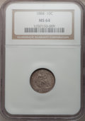Seated Dimes: , 1884 10C MS64 NGC. NGC Census: (91/125). PCGS Population (72/106).Mintage: 3,365,505. Numismedia Wsl. Price for problem fr...